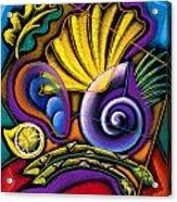 Shellfish Acrylic Print by Leon Zernitsky