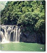 Shifen Waterfall Acrylic Print