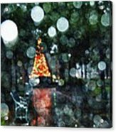 Shiny Tree In Bienville Square Acrylic Print