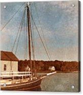 Ship At Dock Acrylic Print