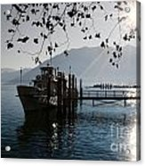 Ship In Backlight Acrylic Print