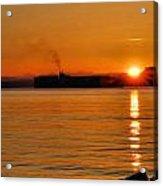 Ship Meets Sunrise Acrylic Print