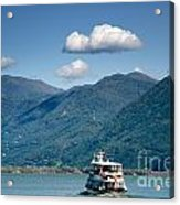 Ship On A Lake Acrylic Print
