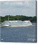 Ship On Volga Acrylic Print