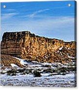 Ship Rock In Kansas Acrylic Print