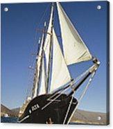 Ship Sailing Through The Galapagos Acrylic Print