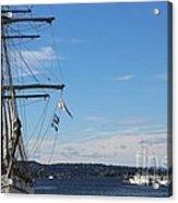 Ships In Oslo Harbor Acrylic Print