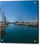 Ships in Their Slips in Toulon Acrylic Print