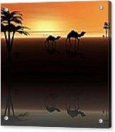 Ships Of The Desert Acrylic Print