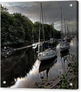 Ships On The Almond River Acrylic Print