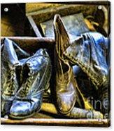 Shoe - Vintage Ladies Boots Acrylic Print