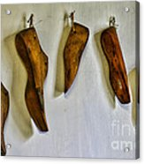 Shoe - Wooden Shoe Forms Acrylic Print