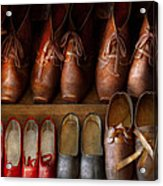 Shoemaker - Shoes Worn In Life Acrylic Print by Mike Savad
