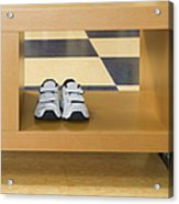 Shoes In A Shelving Unit Acrylic Print by Andersen Ross