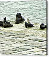 Shoes On The Danube Bank - Budapest Acrylic Print