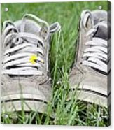 Shoes On The Green Grass Acrylic Print