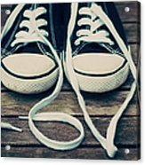 Shoes With Laces Acrylic Print