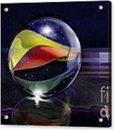 Shooting Marbles Acrylic Print by Reggie Duffie
