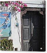 Shop On The Corner Santorini Acrylic Print