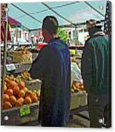 Shopping At The Farmers Market Acrylic Print