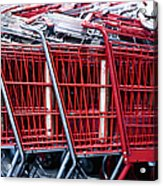 Shopping Carts Acrylic Print by Sam Bloomberg-rissman