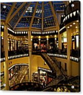 Shopping Mall In The Evening Acrylic Print