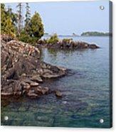 Shore Of Isle Royale Acrylic Print