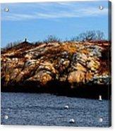 Rockport Shore Rocks - Greeting Card Acrylic Print
