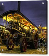 Showmans Engine By Night  Acrylic Print