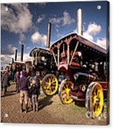 Showmans Engines At Dorset  Acrylic Print