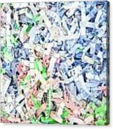 Shredded Paper Acrylic Print by Tom Gowanlock