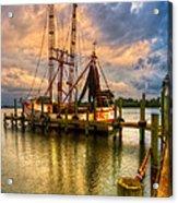 Shrimp Boat At Sunset Acrylic Print