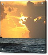Shrimp Boat Sunrise Acrylic Print