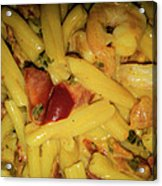 Shrimp N Pasta Acrylic Print