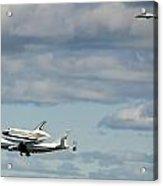 Shuttle Enterprise And Escort Acrylic Print