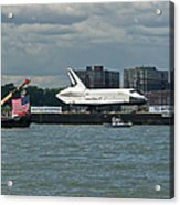 Shuttle Enterprise Flag Escort Acrylic Print
