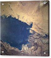 Shuttle Photograph Of Kuwait, Iraq & Iran Acrylic Print by Nasa