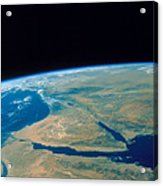 Shuttle Photograph Of The Middle East Acrylic Print by Nasa