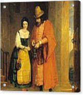 Shylock And Jessica From 'the Merchant Of Venice' Acrylic Print