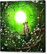 Siamese Cats In Spring Moonlight Acrylic Print