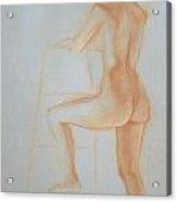 Side Profile Of Woman Standing Acrylic Print