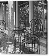 Sidewalk Cafe - Afternoon Shadows Acrylic Print by Suzanne Gaff