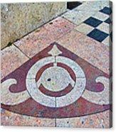 Sidewalk Detail  Lisbon Portugal Acrylic Print