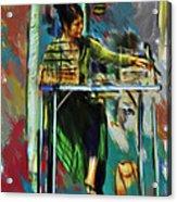 Sidewalk Sales Acrylic Print by Dale Stillman
