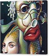 Siegfried And Koi Acrylic Print