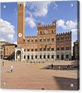 Siena Italy - Piazza Del Campo With Palazzo Pubblico Acrylic Print