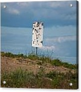 Sign At The Gulf Of Bothnia Acrylic Print