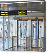 Sign Leading To Baggage Claim Acrylic Print