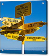 Sign Post In Sterling Point Bluff Acrylic Print