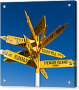 Signpost In Sterling Point Bluff Acrylic Print